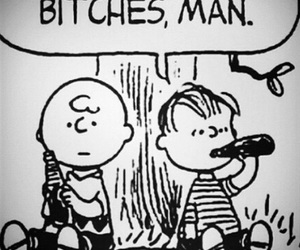 bitch, charlie brown, and peanuts image