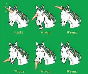 unicorn, funny, and horn image
