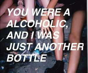 alcoholic, bottle, and alone image