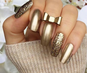 gold, gold glitter, and gold ring image