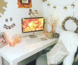 fall, autumn, and room image