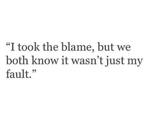 quote, blame, and fault image