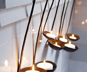 candle, diy, and home image