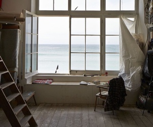 sea, window, and home image