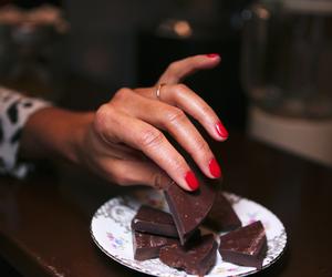 chocolate, dark, and dessert image