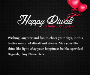 happy diwali, diwali quotes, and name wishes image