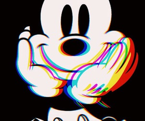 beautiful, face, and mickey mouse image