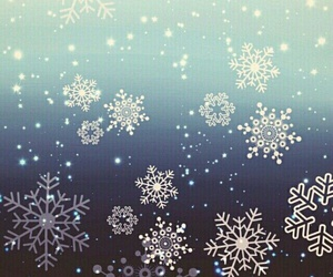 wallpaper, snowflake, and snow image