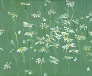 art, daisy, and flowers image
