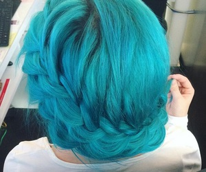 blue hair, class, and fashion image
