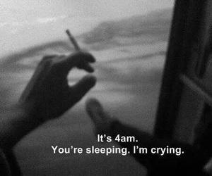black and white, sleep, and smoke image