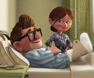 carl, ellie, and love image