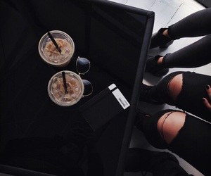 black, coffee, and tumblr image