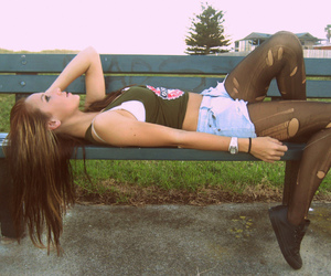 beautiful, brunette, and girl image