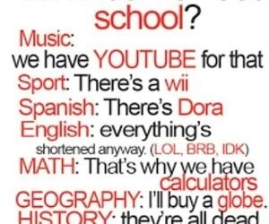 school, funny, and music image