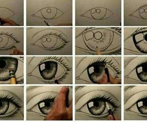 eyes, eye, and drawing image