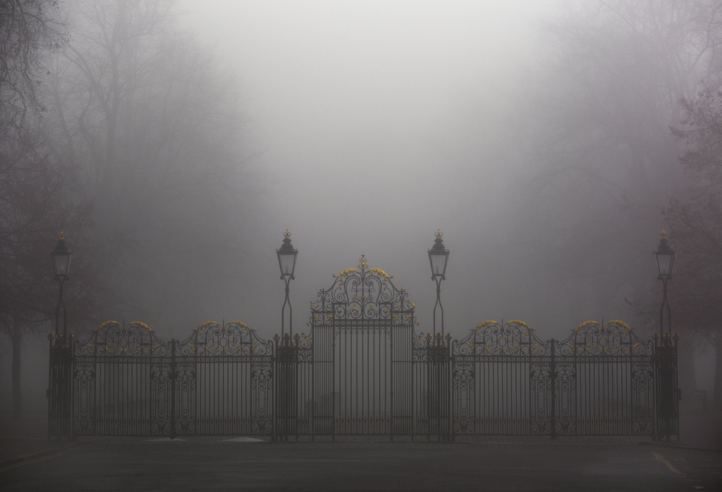 city, foggy, and london image