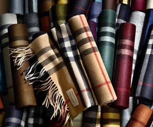 Burberry, fashion, and scarf image