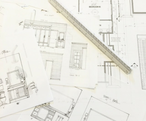 architect, drawing, and interior image
