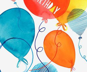 baloons, hbd, and bday image