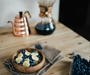 blueberry, banana, and food image