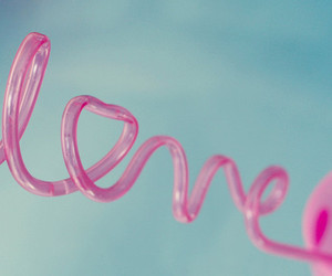 love, pink, and sky image
