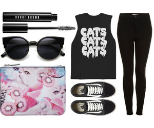 cat, cateye, and clothes image