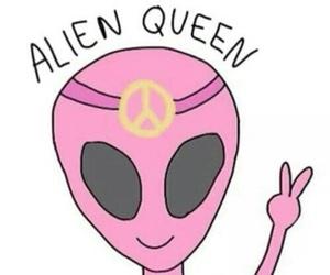 alien, Queen, and pink image