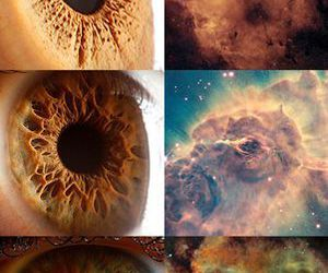 eyes, galaxy, and universe image