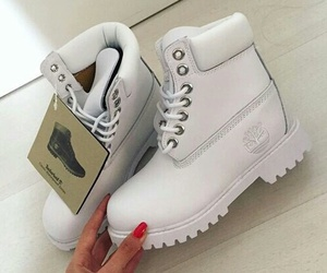 white, shoes, and timberland image