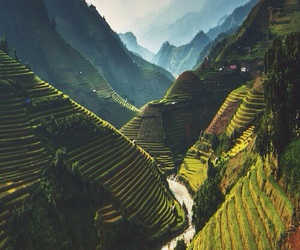 travel, mountains, and green image