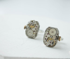 cufflinks, steampunk, and wedding gift image