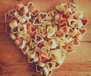love, heart, and food image
