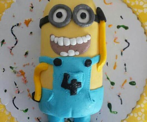 birthday, cake, and minion image