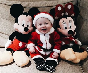 baby, christmas, and disney image