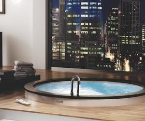 city, luxury, and pool image