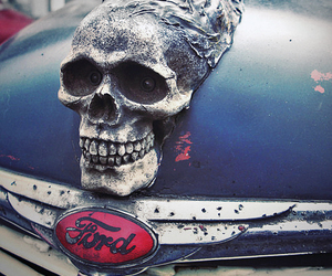 skull, ford, and car image