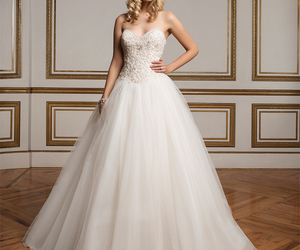 ballgown, bridal gown, and wedding dress image