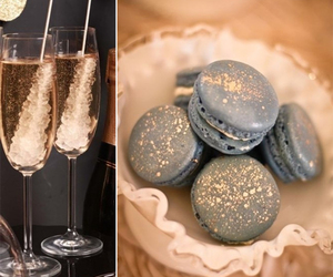 bubbly, champagne, and party food image