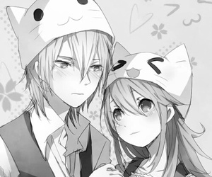 anime, couple, and kawaii image