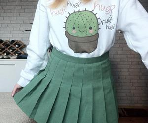 green, fashion, and cactus image