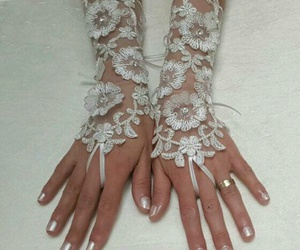 forever, gloves, and wedding image