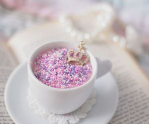 pink, cup, and crown image