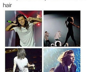 hair and Harry Styles image
