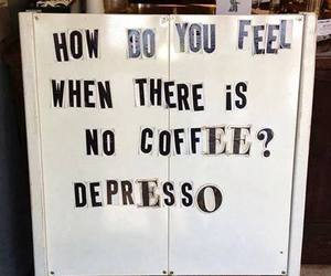 coffee, depressed, and funny image
