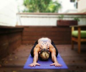 yoga and balasana image