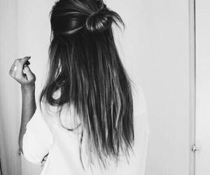 black, bun, and fashion image