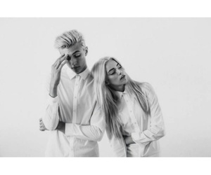 siblings, pyper america smith, and black & white image