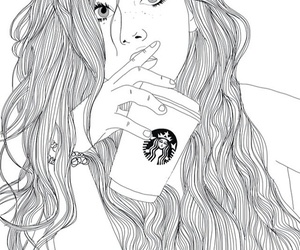 art, beautiful, and outline image