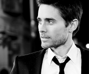 jared leto, black and white, and sexy image